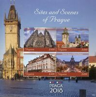 Guyana 2018 MNH Sites & Scenes of Prague 4v M/S Architecture Tourism Stamps