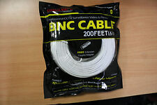 New High Quality 200FT BNC Extension CCTV Cable for Samsung,Kguard,Swann,Lorex