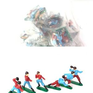 Lot 72 Vintage Wilton Football Players Cake Toppers Decorations Party Red/Blue