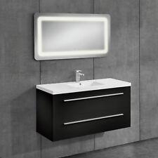 [neu.haus]® Badezimmerschrank Unterschrank Waschtisch Badmöbel schwarz 60x120cm