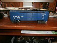 LIONEL POST-WAR O-SCALE 3-RAIL AUTOMOBILE BOXCAR-BALTIMORE & OHIO-#6468