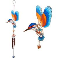 Large beautiful Kingfisher Wind Chime Sun catcher mobile garden Gift WC_80224