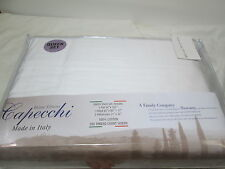 New Capecchi Home Linens White Queen Sheet Set 300 TC Sateen - Made in ITALY NIP