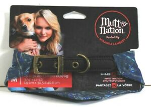 """1 MuttNation By Miranda Lambert M 3/4"""" X 12 To 16"""" Paisley Handkerchief Collar"""