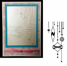 Ornaments on Side embossing folder 1218-103 Darice embossing folders Christmas