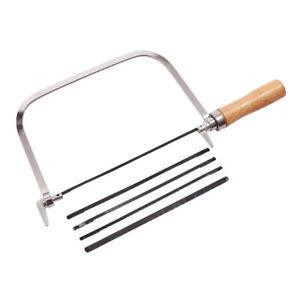 Coping Saw Fret Hacksaw Cutting 5 Blades Lightweight 6.5 inch Amtech M2000