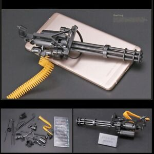 """1/6 Scale M134 Gatling Machine Gun Weapon Military For 12"""" Action Figure Soldier"""