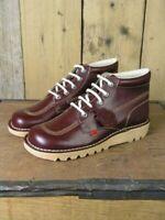 Kickers Mens Kick Hi Classic Dark Red Boots