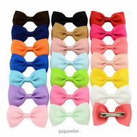 20PCS Handmade Bow Hair Clip Alligator Clips Girls Ribbon Kids Sides Boutique UK