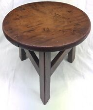 Antique Solid Fruit Wood Miniature Apprentice Stool Table Stand