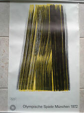 Original vintage Munich 1972 Olympic Games Poster Hans Hartung