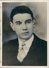 1936 Young Portsmouth New Hampshire Mayor Kennard Goldsmith Press Photo