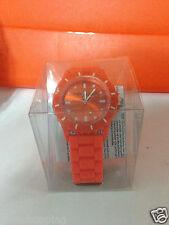 orologio da polso in silicone colore arancio