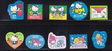 JAPAN 2013 HELLO KITTY & MY MELODY SUMMER GREETING 80 YEN COMP SET 10 STAMP USED