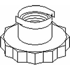 Achsmutter Antriebswelle Vorderachse - Topran 109 664