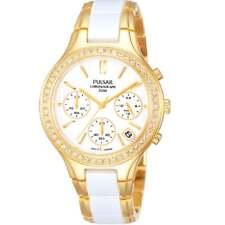Pulsar Sports Chronograph White Dial 2 Tone Gold Bracelet Ladies Watch PT3304
