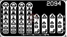 Verlinden 1/32 US Seat Belt Buckles WWII (Universal) [Photo-etch Accessory] 2094