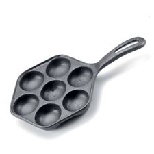 Norpro Cast Iron Danish Aebleskiver Pan - Pancake Puffs - 11.5 Inches