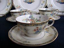 HAVILAND LIMOGES MONTREUX (c.1921+) CUP & SAUCER(s)- TWO TONE! EXCELLENT! GILT!
