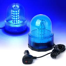 60 LED Emergency Vehicle Flash Strobe and Rotating Beacon Warning Light Blue
