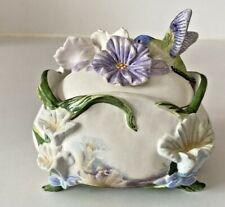 "Heirloom Porcelain Music Box ""Harmonious Gardens Series"