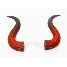 Large Red & Black Devil Scary Horns - Tip Halloween Horror Fancy Dress Costume