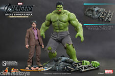 MARVEL Bruce Banner and Hulk Sixth Scale Figure Set Hot Toys Movie Masterpiece