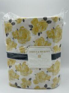 New Pottery Barn Emily & Meritt Marigold Rose King Sheet Set