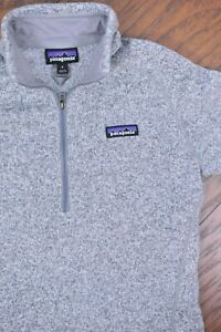 Patagonia Better Sweater 1/4 Zip Pullover Fleece Gray Heather Women's Small S