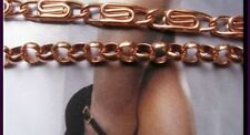 Available in 8,5 inch lengths. Solid Copper Anklet Set #1 -
