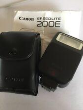 Flash Canon Speedlite 200E Y Estuche Original, Para Canon