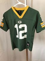 Aaron Rodgers Green Bay Packers NFL Team Players Jersey Youth Size M Green 10-12
