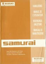 SUZUKI SAMURAI Betriebsanleitung 1992 Bedienungsanleitung Handleiding Manuale BA