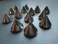 50x Metall Spikes Nieten Killernieten Silber 10mm zum Aufnähnen Top Qualität