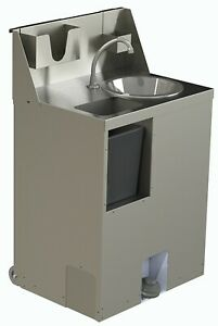 Hallco RHAMHWS-L+ Reduced Height Hand Wash Station/Sink  - FREE HANDWASH TIMER
