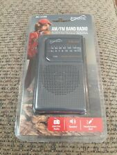 Supersonic Portable AM/FM 2 Band Pocket Radio Telescopic Antenna w/ Strap NIP