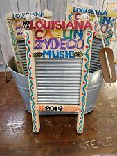 Zydeco Cajun Musical Washboard