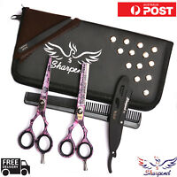 "Pro Barber Salon Hair Cutting Thinning Scissors Shears Hairdressing 5.5"" + Case"