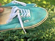 VANS CALIFORNIA Turquoise Aqua Green Skateboard Sneakers Athletic Men Shoe SZ 11