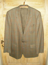 BROOK TAVERNER Sakko Blazer 44 / 112 100% Baumwolle kariert Made in Britain