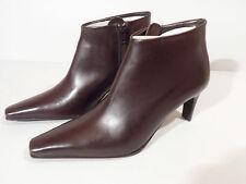 Moda Di Fausto Ladies Brown Leather Sole Ankle Boot Heel EU 34.5 UK 2.25 Italian