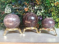 Natural Garnet Crystal Sphere Round Crystal Ball Healing Sphere Rock Stone