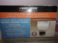 BLACK & DECKER SPACEMAKER UNDER THE CABINET MINI FOOD PROCESSOR/GRINDER