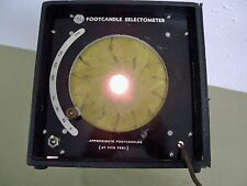 Vintage Movies Film Lighting GE Footcandle Selectometer Measured Lumins RARE