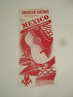 1952 American Airlines Fares Schedules Mexico Central America Pamphlet Brochure