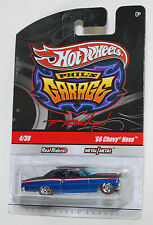 Hot Wheels PHIL'S GARAGE '66 CHEVY NOVA BLUE REAL RIDERS 1:64