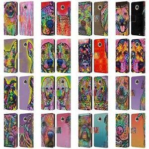 OFFICIAL DEAN RUSSO DOGS 3 LEATHER BOOK WALLET CASE FOR MOTOROLA PHONES