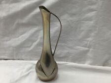 Mid Century Scandi Vintage Metal Bud Vase Jug -