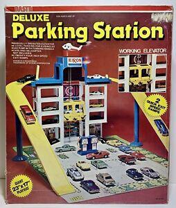 Vintage Nasta Deluxe Parking Station w/Elevator & Playmat Hot Wheels, Matchbox