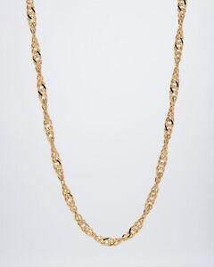 Ö.5514 Singapurkette 925er Silber gelbvergoldet 45cm
